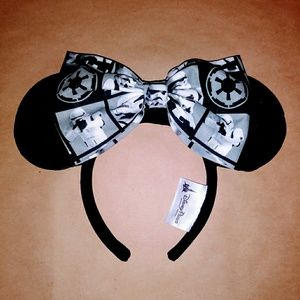 Large stormtrooper bow for minnie ears BOW ONLY